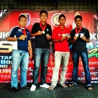 Photo taken at Pusat Sukan UiTM by Hazwan H. on 12/8/2012