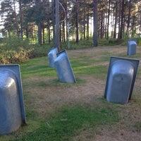 Photo taken at Umedalens Skulpturpark by Simon L. on 8/11/2013