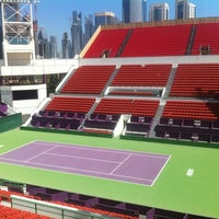 Photo taken at Qatar Tennis Federation by Ion E. on 3/18/2013