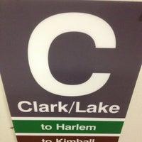 Photo taken at CTA - Clark/Lake by MC J. on 10/22/2012