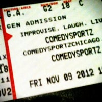 Photo taken at CSz Theater Chicago by Danu A. on 11/10/2012
