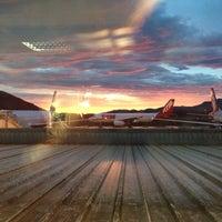 Photo taken at Aeroporto Internacional de Florianópolis / Hercílio Luz (FLN) by Rafaela M. on 10/21/2013