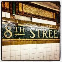 Photo taken at MTA Subway - 8th St/NYU (R/W) by Qasim R. on 9/12/2013