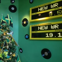 Photo taken at Usain Bolt's Tracks & Records by Tausha C. on 12/31/2012