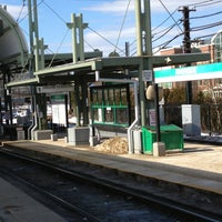 Photo taken at MBTA Riverside Station by Ray C. on 2/21/2013