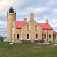 Photo taken at Old Mackinac Point Lighthouse by Ray C. on 11/8/2014