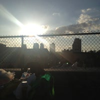 Photo taken at Rooftop 75 Roebling St. by Anna on 7/4/2013