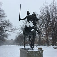 Photo taken at Joan of Arc Statue - Meridian Hill Park by Kurtis S. on 1/23/2016