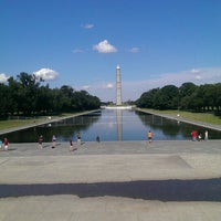 Photo taken at Lincoln Memorial Reflecting Pool by Lukas K. on 6/29/2013