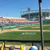 Photo taken at Mudeung Baseball Stadium by HYE IL L. on 10/3/2013