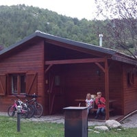 Photo taken at Camping Vall de Camprodon by Ted M. on 8/25/2013