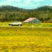 Photo taken at See Rock City Painted Barn by Justin C. on 3/22/2014