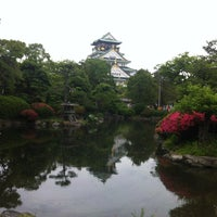 Photo taken at 大阪城日本庭園 by 浩子 池. on 6/1/2013