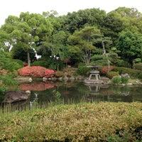 Photo taken at 大阪城日本庭園 by 浩子 池. on 6/14/2013