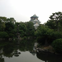 Photo taken at 大阪城日本庭園 by 浩子 池. on 7/27/2013