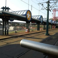 Photo taken at NFTA Metro Rail Erie Canal Harbor Station by Jo D. on 7/21/2013