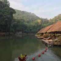 Photo taken at River Kwai Jungle Raft Floating Hotel Kanchanaburi by MayMay C. on 12/11/2016