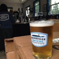 Photo taken at Monhegan Brewing Company by Brenna H. on 7/31/2014