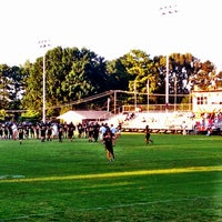 Photo taken at HHS Football Field by Fran D. on 8/30/2013