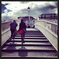 Photo taken at The Ha'penny (Liffey) Bridge by gracie s. on 4/21/2013