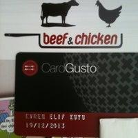 Photo taken at Beef & Chicken by Evren Elif A. on 4/3/2013