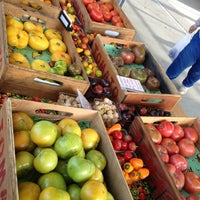 Photo taken at Fulton Street Farmer's Market by Aaron J. on 9/25/2012
