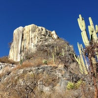 Photo taken at Hierve el Agua by Mario M. on 12/27/2012
