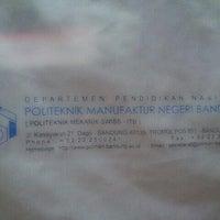 Photo taken at Politeknik Manufaktur Negeri (POLMAN) Bandung by andri n. on 12/13/2013