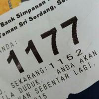 Photo taken at Bank Simpanan Nasional (BSN) Serdang by Yap S. on 12/31/2015