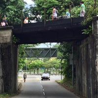 Photo taken at Railway Bridge (Hindhede Dr) by fivefingers w. on 10/8/2016