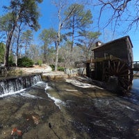 Photo taken at Grist Mill / Stone Mountain Park by Andy C. on 3/9/2017