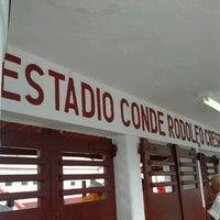 Photo taken at Estádio Conde Rodolfo Crespi by Fábio on 3/2/2013