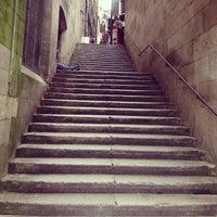 Photo taken at Scotsman Steps by Olga P. on 10/14/2013