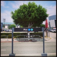 Photo taken at Pico (Chick Hearn) Metro Station by Don O. on 8/2/2013