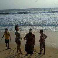 Photo taken at Padubidri Beach by Anusha S. on 5/23/2013