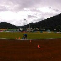 Photo taken at Ranong Province Stadium by Yungbinchuk T. on 8/2/2015