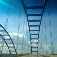 Photo taken at Mobile-Tensaw Delta Bridge by Crystal M. on 1/24/2013
