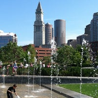 Photo taken at The Rose Kennedy Greenway by Chris B. on 8/17/2013