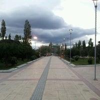 Photo taken at Plaza de Armas de Puerto Natales by Luis E. on 12/28/2012