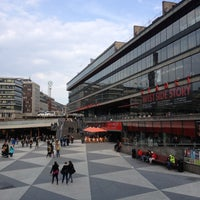 Photo taken at Sergels Torg by Xavier B. on 4/29/2013