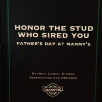 Photo taken at Manny's Steakhouse by Michael L. on 6/16/2013