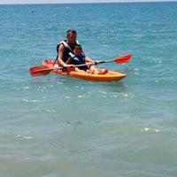 Photo taken at Pissouri Beach by Юлия Г. on 6/30/2013