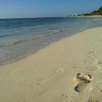 Photo taken at Playa del Carmen by Bea L. on 3/26/2013