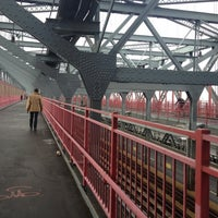 Photo taken at Williamsburg Bridge Pedestrian & Bike Path by Jo M. on 10/27/2012