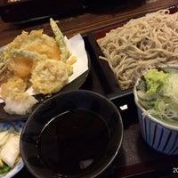 Photo taken at 石挽手打めん処 萬八 by Gianni G. on 11/26/2014