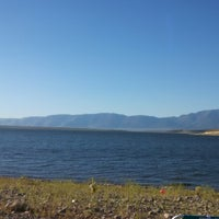 Photo taken at Crowley Lake by Brandon T. on 7/5/2014