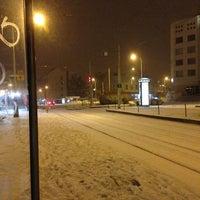 Photo taken at Palmovka (tram, bus, trol) by Patrik P. on 1/18/2013