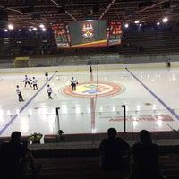 Photo taken at Zimný štadión Vladimíra Dzurillu by Emily K. on 9/10/2016