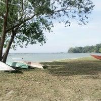 Photo taken at Layang-layangan Beach by Dato B. on 3/6/2013