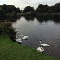 Photo taken at Harrow Lodge Boating Lake by Paul G on 10/7/2013